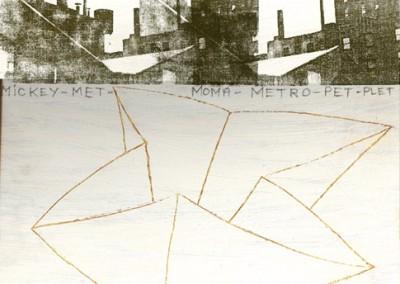 'N.Y.' I - 30x30cm
